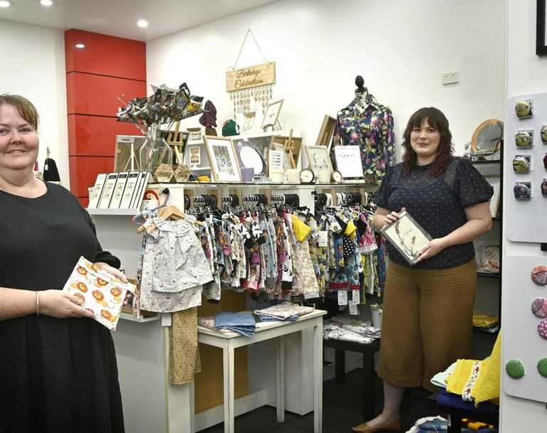 """New shop """"Made with Love"""" at Toowoomba Plaza. Owners, Stella Gentry (left) and Isabelle Chassain."""