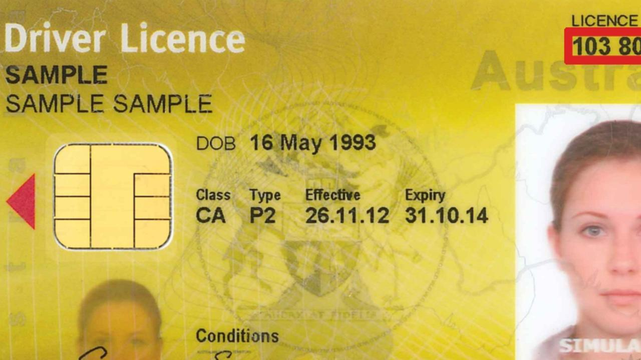 Letting your driver's licence expire can book you a trip to court. Photo: Sample licence with a simulated headshot.
