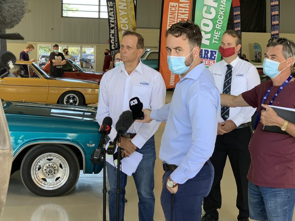 Rockhampton mayor Tony Williams talks about the COVID situation ahead of Rockynats. Pic: Lachlan Berlin