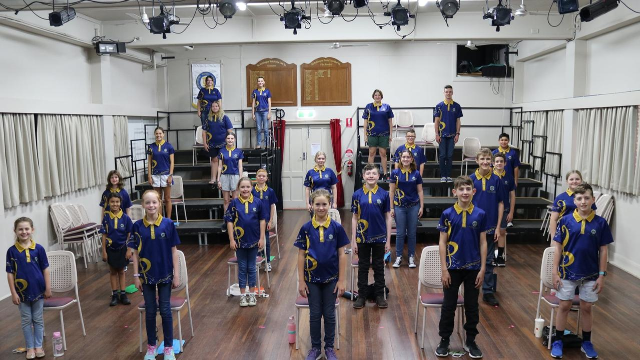 The Rockhampton Musical Union Youth Choir members at rehearsal on Tuesday night.