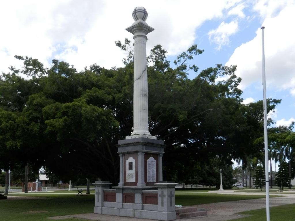 The cenotaph at its current site in Jubilee Park. Picture: Steven Pritchard