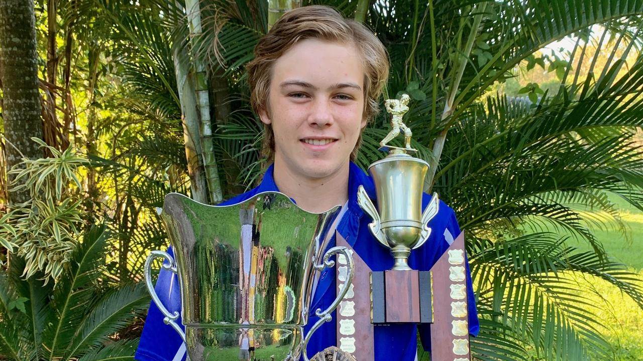 Michael Pettiford scoops the pool with accolades all round in junior and senior cricket. Photo: Contributed