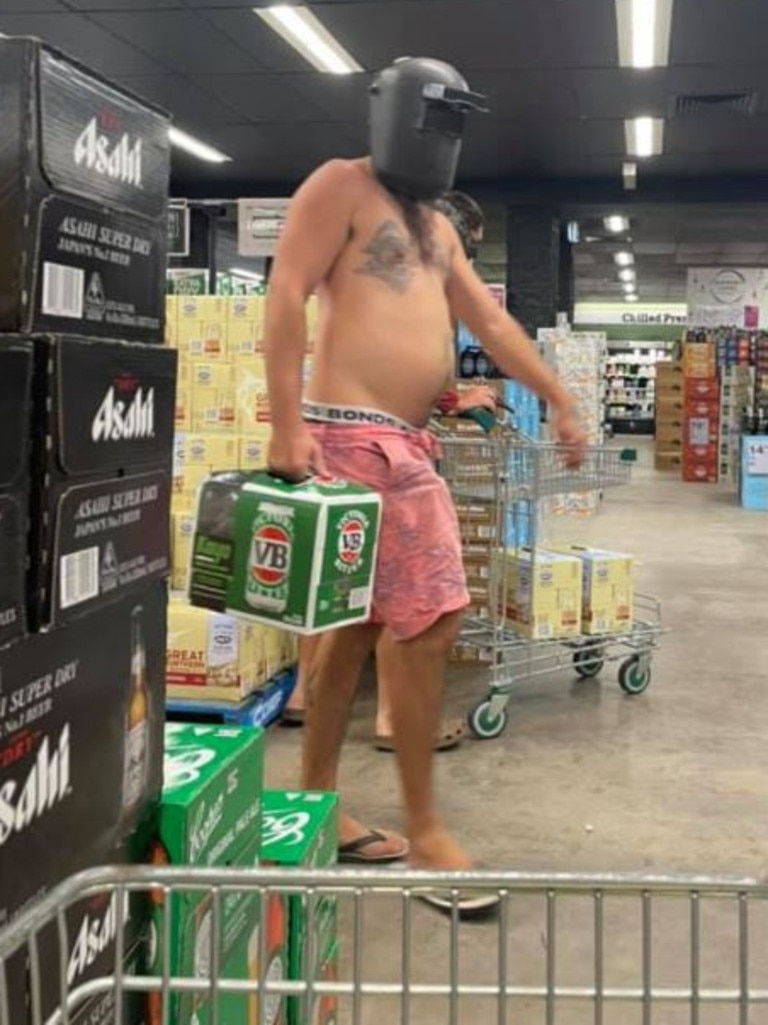 The masked mystery man at a Townsville liquor store