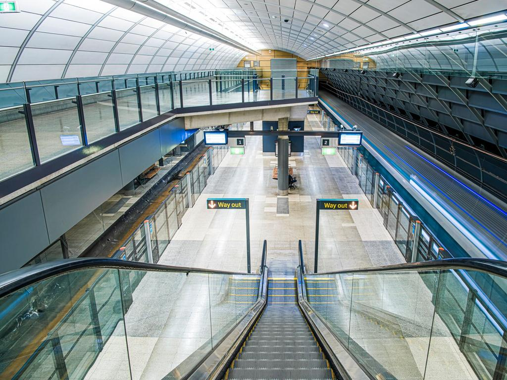 Macquarie University Metro Station, where two incidents occurred.