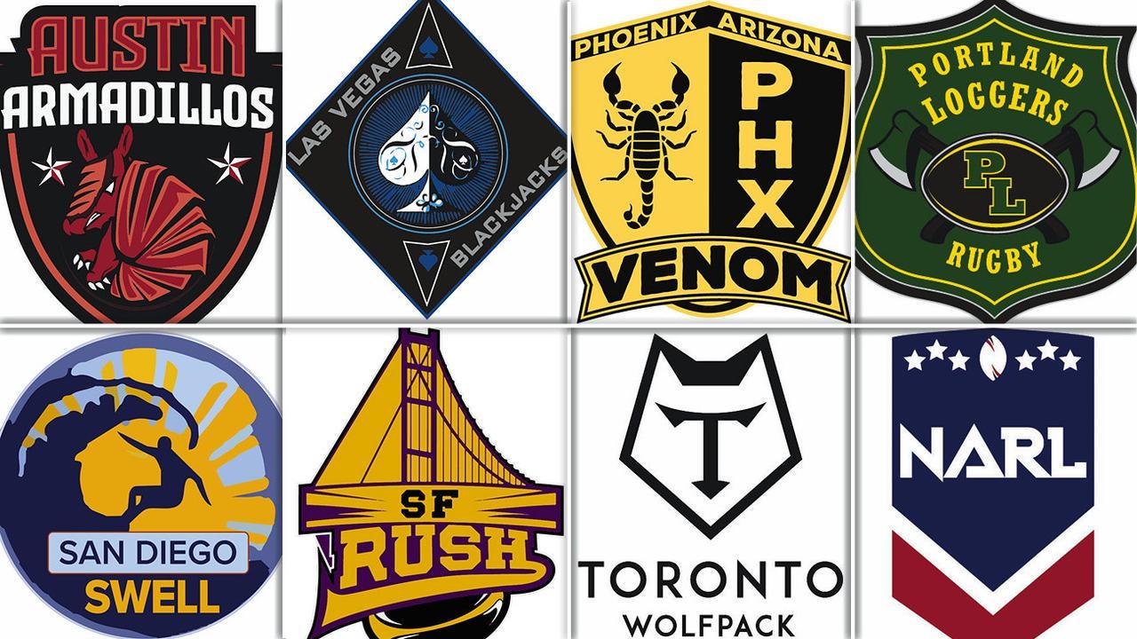 NARL teams the Austin Armadillos, Las Vegas Aces, Phoenix Venom, Portland Loggers, San Diego Swell, San Francisco Rush, Toronto Wolfpack.