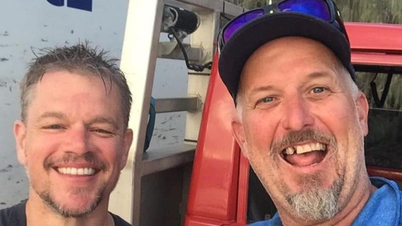 Matt Damon and The Ice Man took a selfie together at Rainbow Beach.