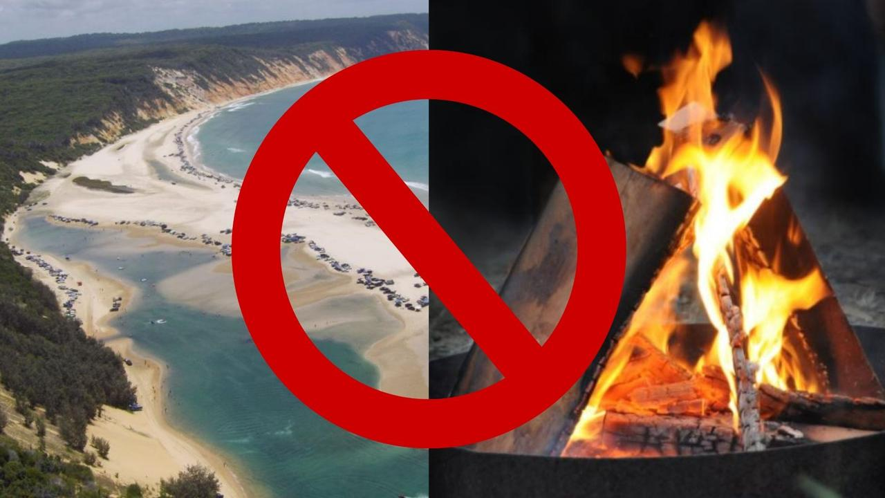 A Cooloola Coast man has called out a government department asking why fire bans are still in place after the rain.
