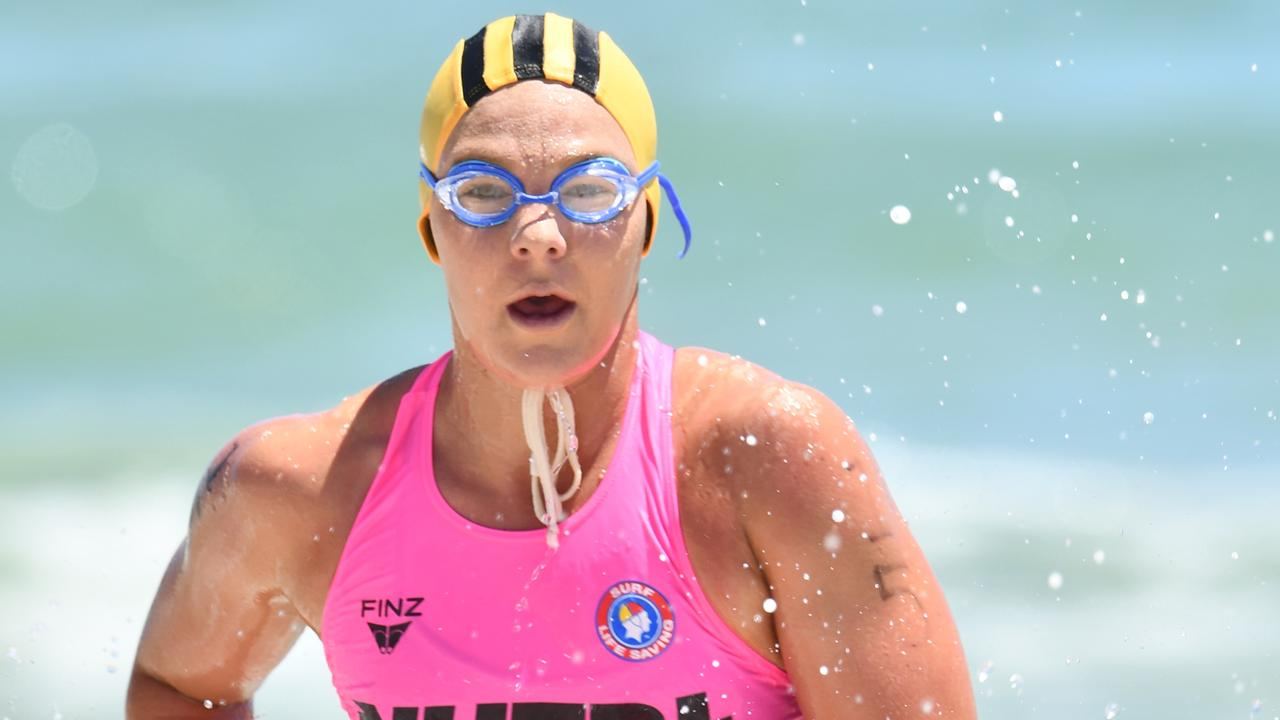 Alexandra Headland lifesaver Tayla Halliday joined Lucinda Kelly and Emma Woods in claiming gold Taplin glory. Picture: Surf Life Saving Australia