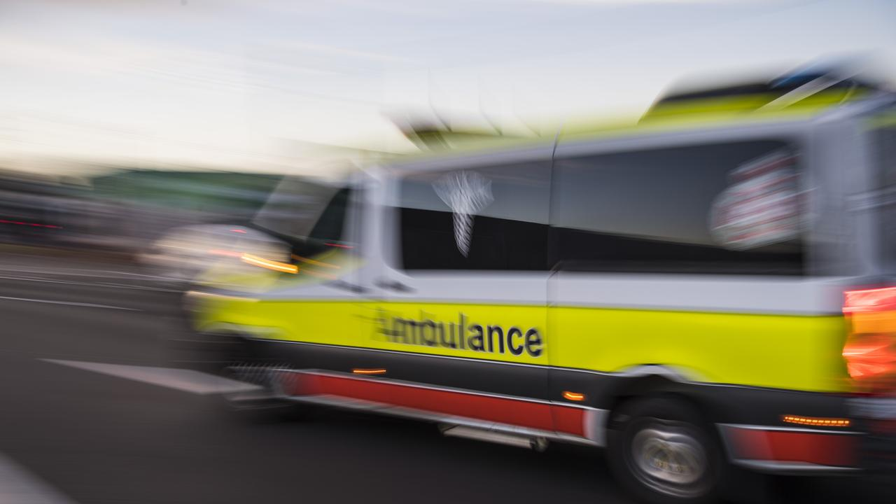 Ambulance crews attended a Bruce HIghway crash on Thursday morning. Picture: Kevin Farmer