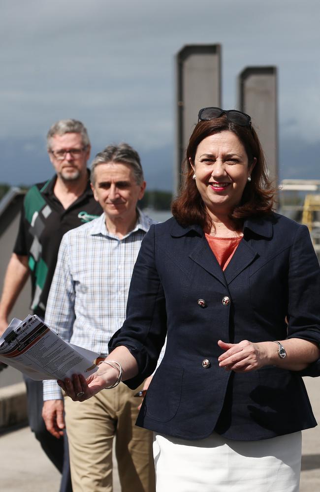 Queensland Premier Annastacia Palaszczuk in Cairns after lifting government enforced restrictions on travel. PICTURE: BRENDAN RADKE