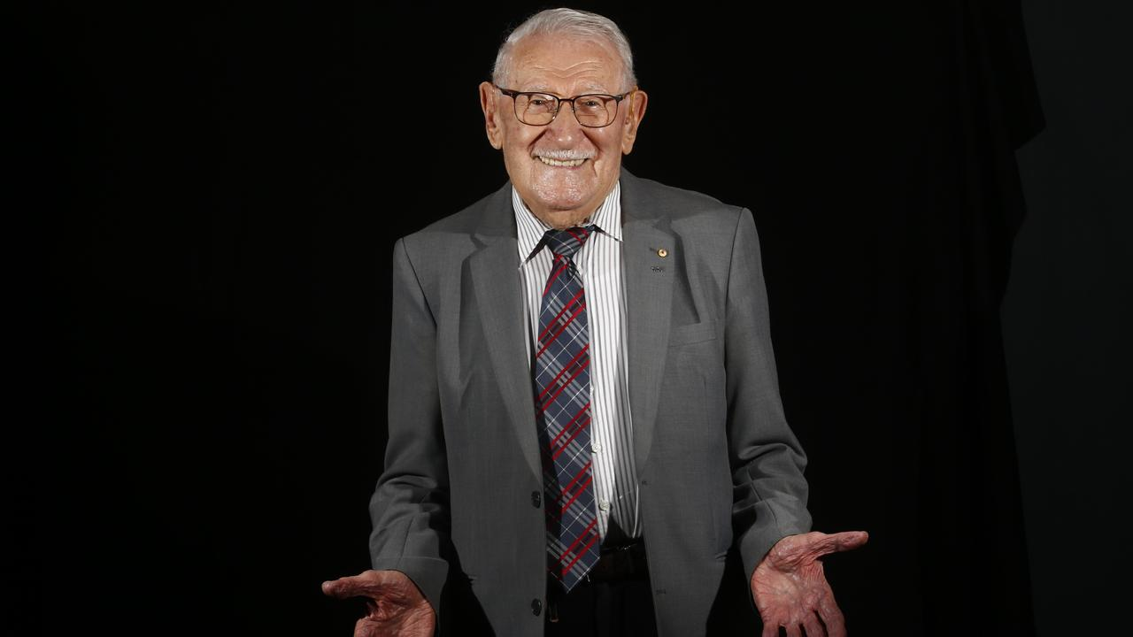 100 year old Holocaust survivor Eddie Jaku wrote his first book, 'Happiest Man on Earth' on his secrets to happiness. Picture: John Appleyard