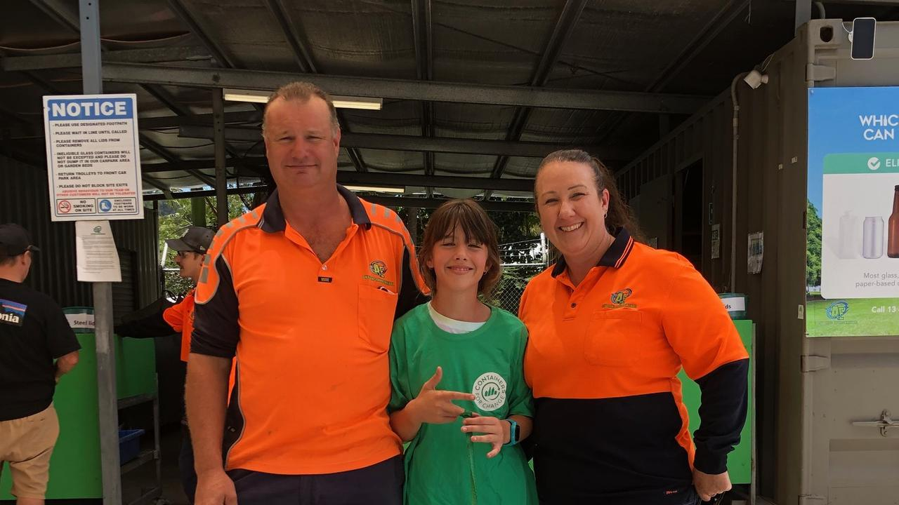 Jason Morley and Jo Higgins of Anything Environmental with daughter Jessica. Photo: Contributed