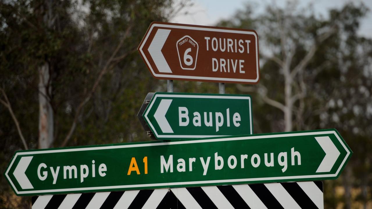 A crash near Bauple has slowed traffic on the Bruce Highway.