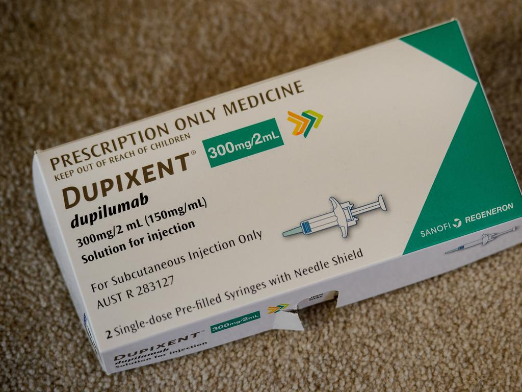 The cost of Dupixent will be cut now it is on the PBS. Picture: Jay Town