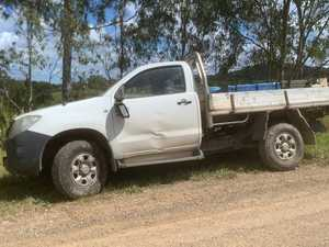 Two hospitalised after ute fall