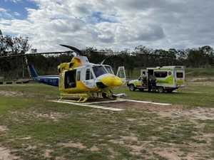 Man flown to hospital after motorbike crash