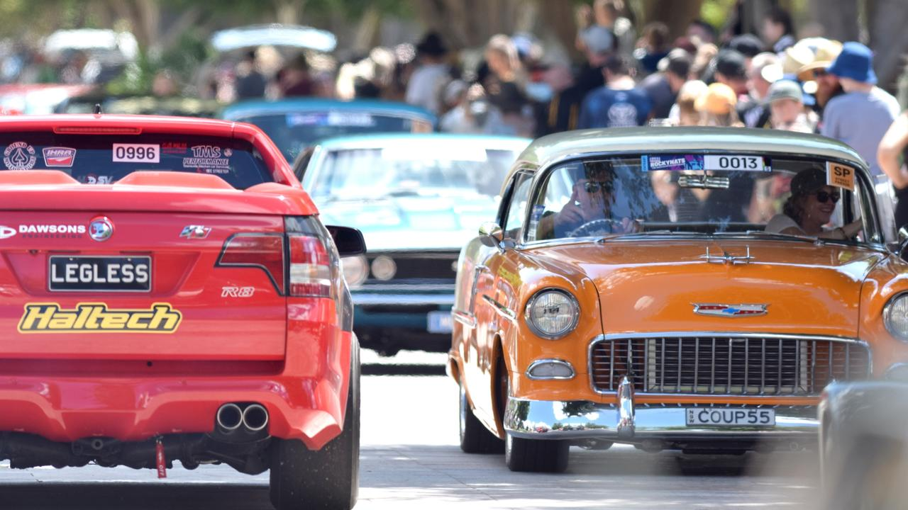 More than 1000 vehicles were in the Rockynats street parade on Friday. Photo: Jann Houley
