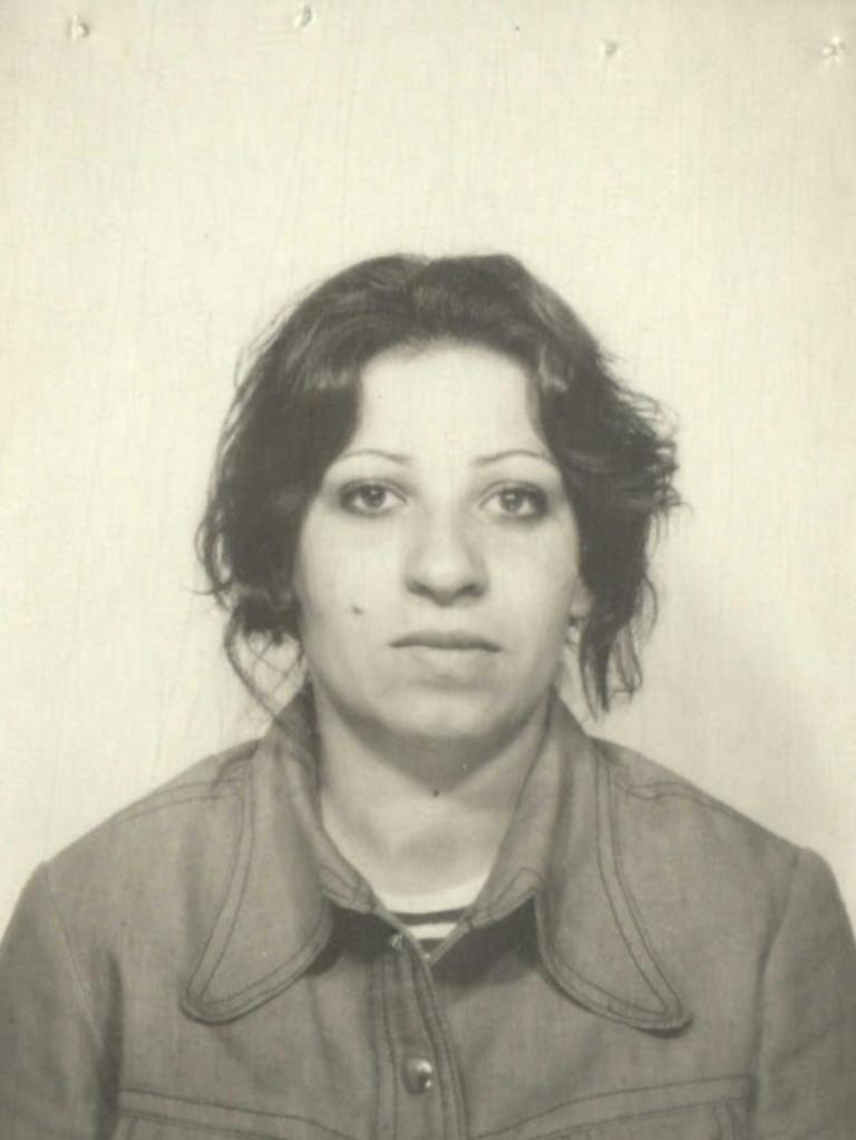 Wahiba Ibrahim in a picture filed with her 1976 citizenship documents.
