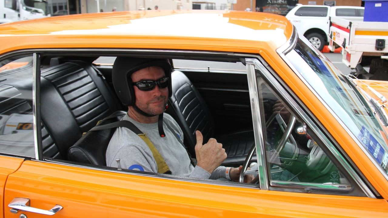 Shane Cattle made the trip from Townsville to enter his 440 big block two-door Dodge hard top at Rockynats. On Saturday he said he had loads of fun racing in the street drags. Picture: Rodney Stevens