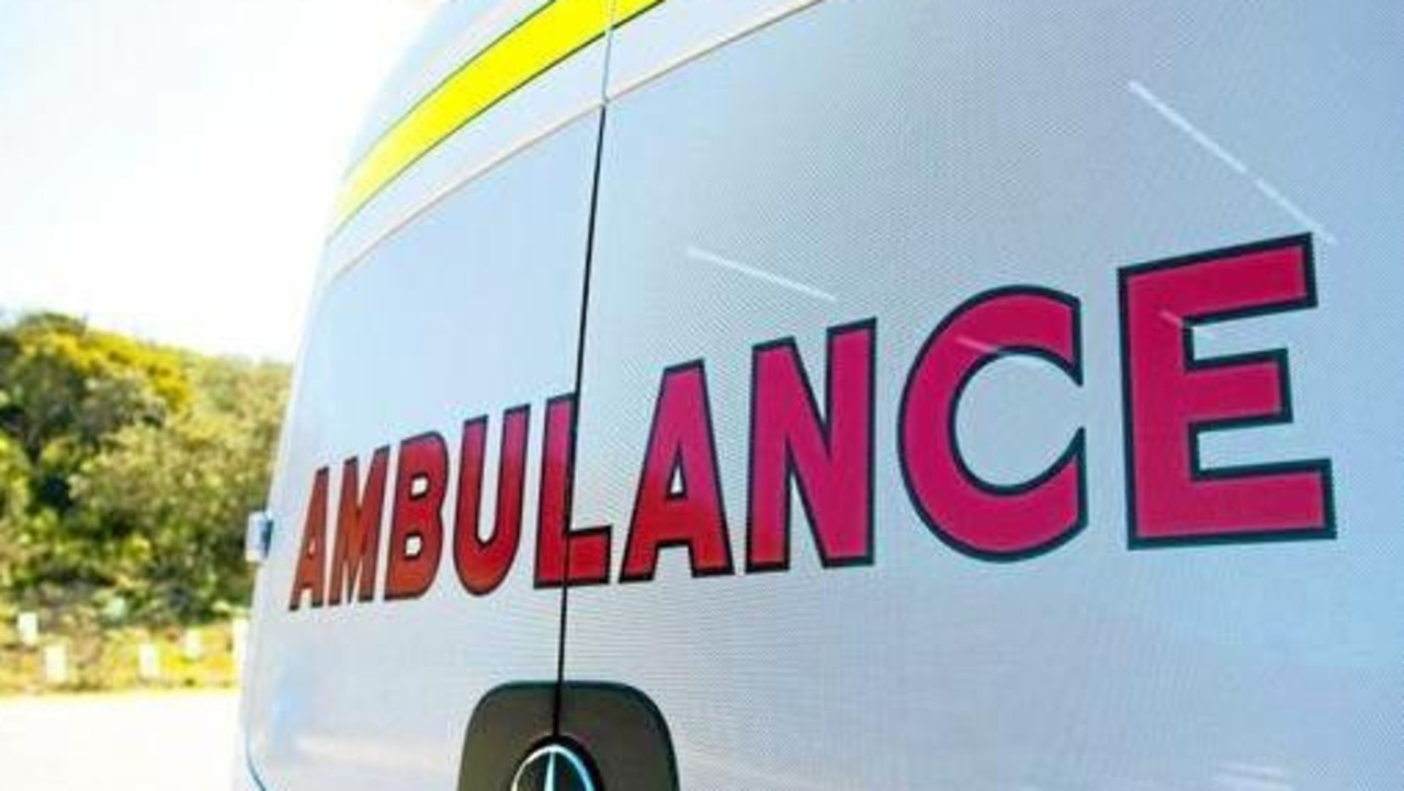 Paramedics are assessing seven stable patients at the scene of a three-vehicle crash.