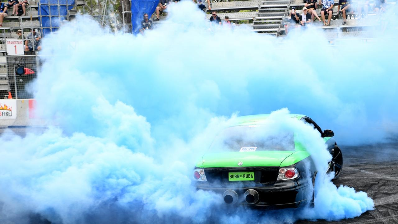 The burnouts were a big hit at Rockynats. Photo: Jann Houley