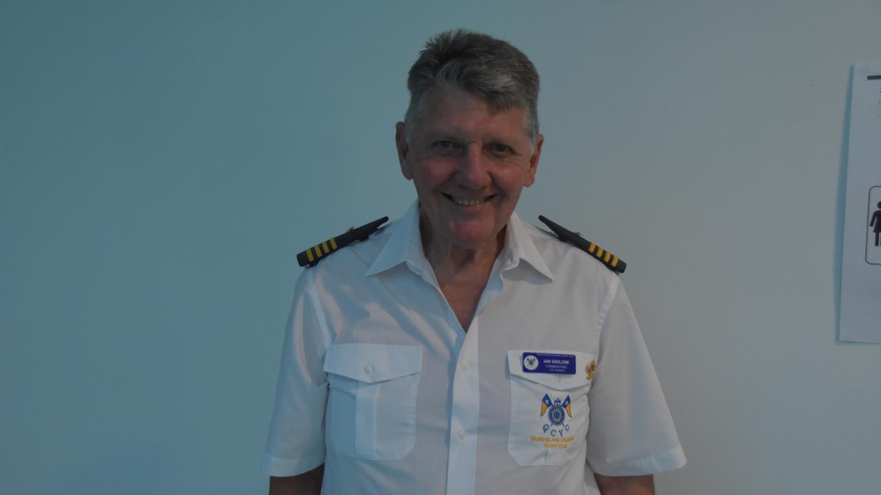 Ian Gidlow, Commodore of the Queensland Cruising Yacht Club.
