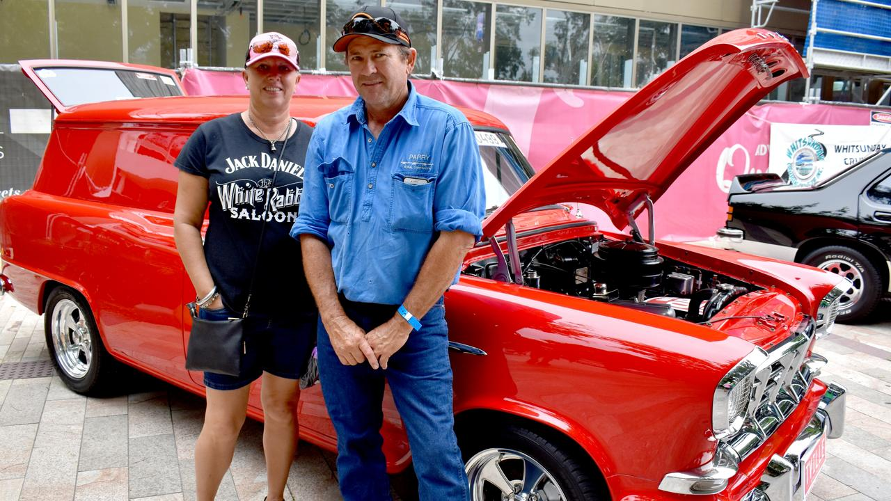 Glenn and Cherie Parry from Capella at the show 'n' shine. Photo: Pam McKay