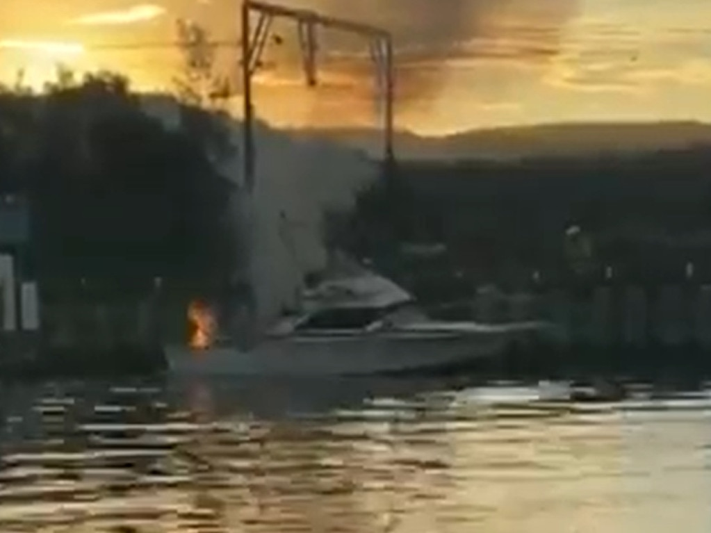 The burns suffered by people on the boat were 'significant'. Picture: 7News