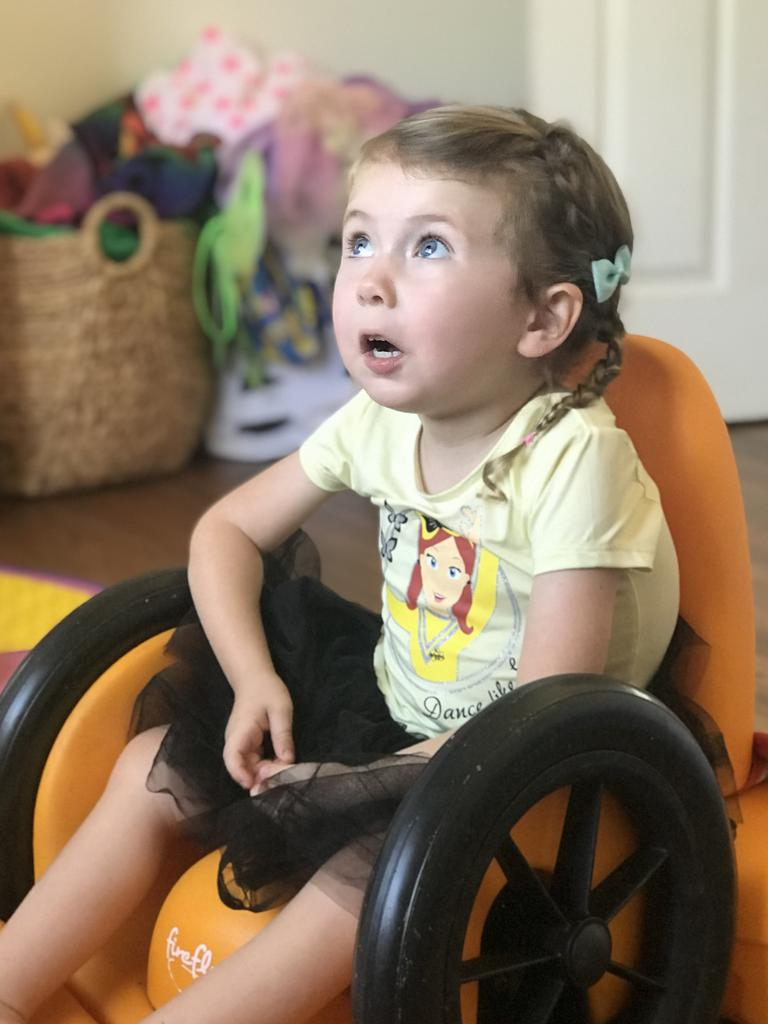 Aviana McElvee is now confined to a wheelchair.