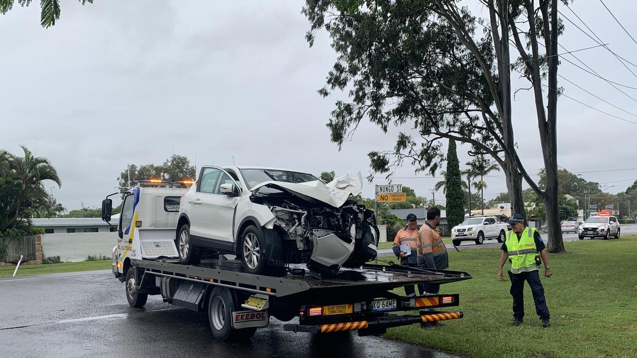 A 69-year-old man died yesterday when the car he was travelling in with his wife veered into a tree on the Sunshine Coast's David Low Way. Picture: Scott Sawyer