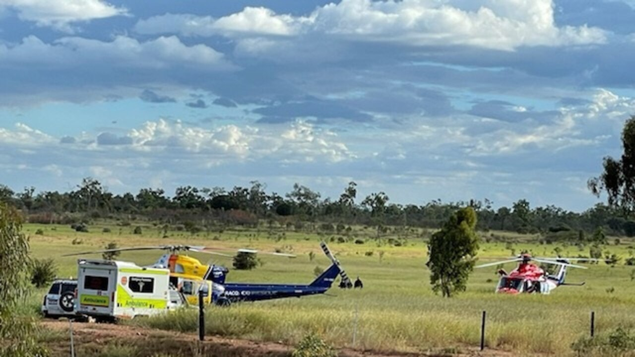 RACQ CQ Rescue attended a crash on Bowen Developmental Road, near Belyando Crossing, on Saturday. Picture: RACQ CQ Rescue