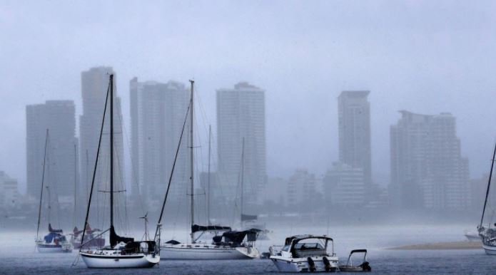 Wet weather has returned to the Gold Coast as heavy rain falls over the city. Picture: Scott Powick / Newscorp