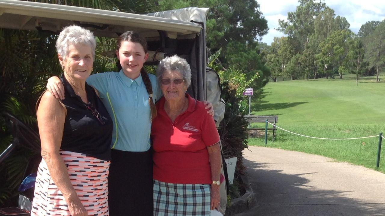 Gympie golfers: Maureen Carroll, Grace Kelleher, Marj Dakin.