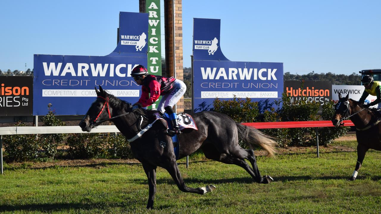 Arctic Circle streaks home to win race five at the 2018 Ergon Energy Warwick Picnic Races. The 2021 race card will be confirmed closer to the event.