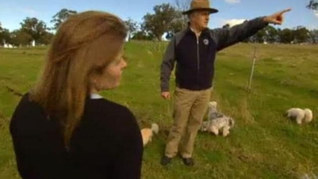 Malcolm Turnbull at his Hunter Valley property East Rossgole. Picture: ABC TV
