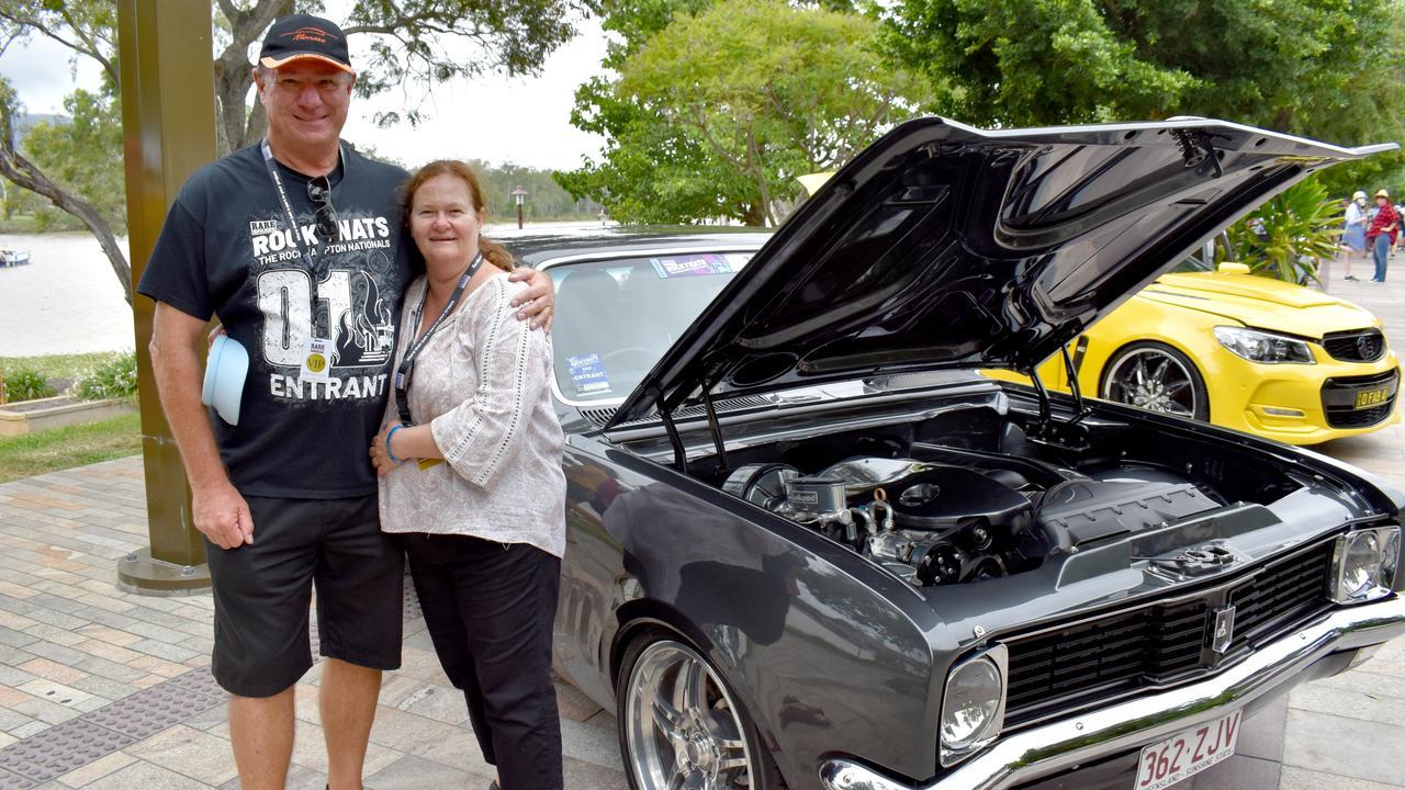 Leigh and Liz Shepherd with their Holden MT Monaro.