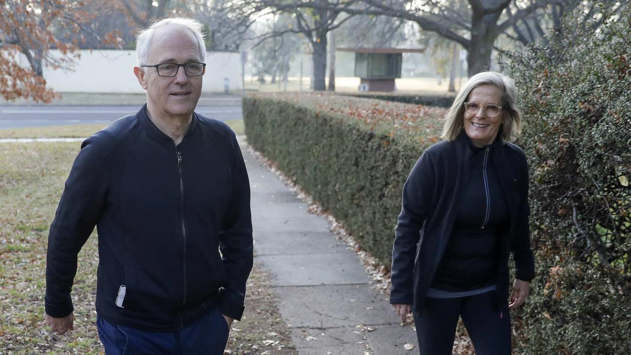 Malcolm Turnbull, pictured with his wife Lucy, has been accused of a conflict of interest in his role. Picture: Sean Davey
