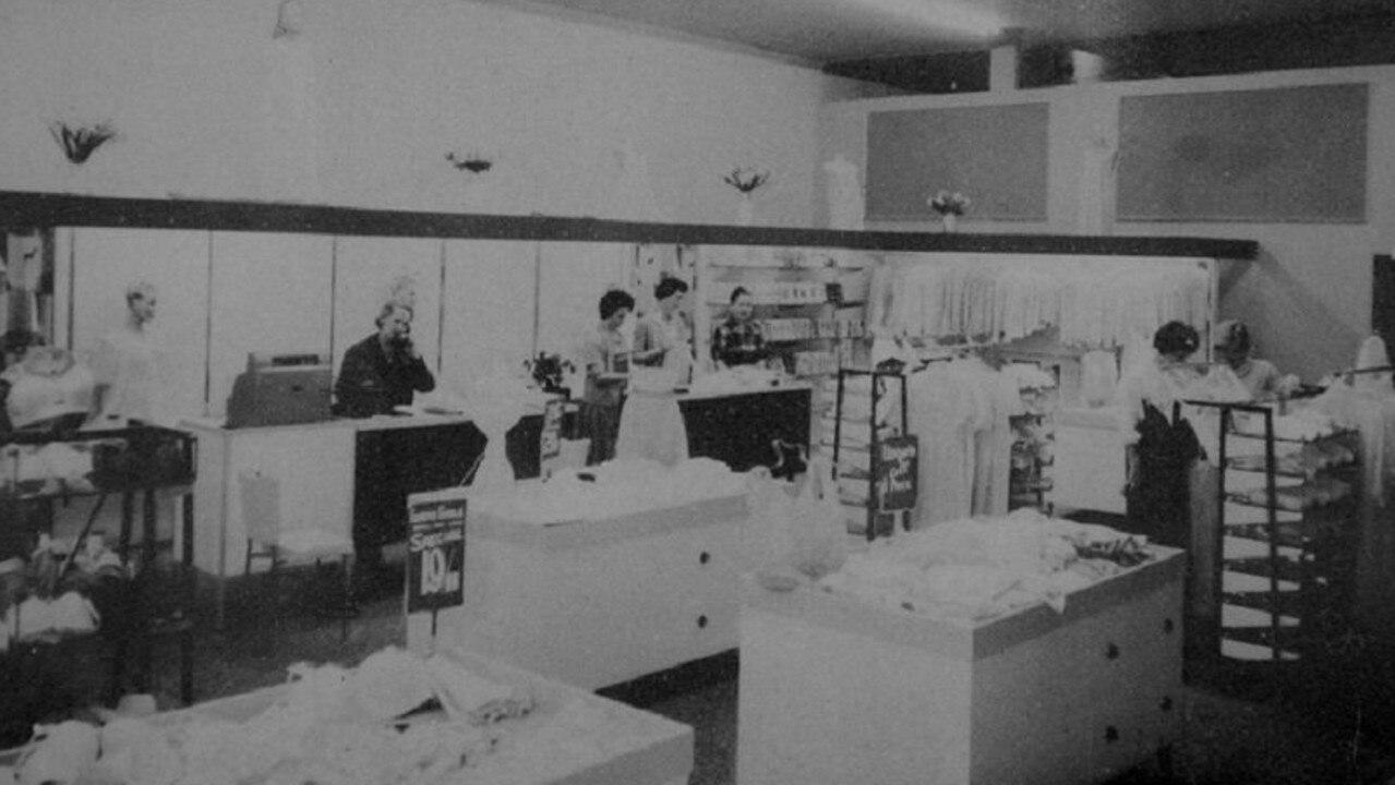 Stewarts lingerie department in 1962.
