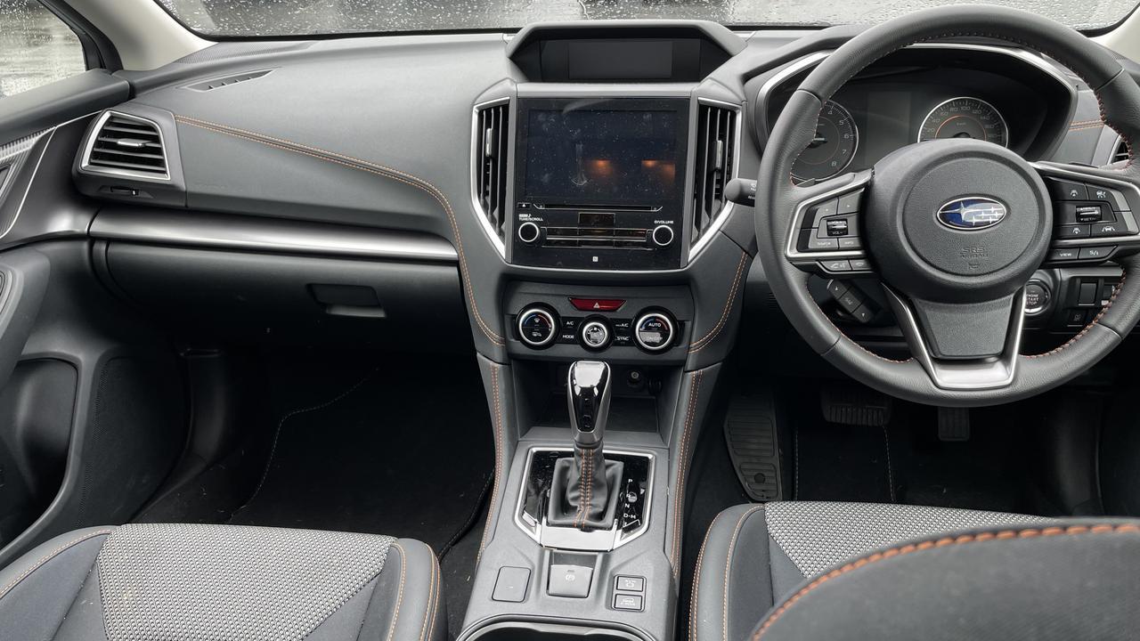Inside the Premium derivative of the Subaru XV.