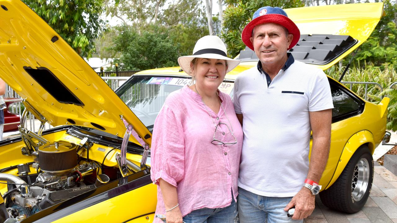 Ros Kavanagh and Steve Lasker made the trip from Longreach to be part of the inaugural Rare Spares Rockynats in Rockhampton. Photo: Pam McKay