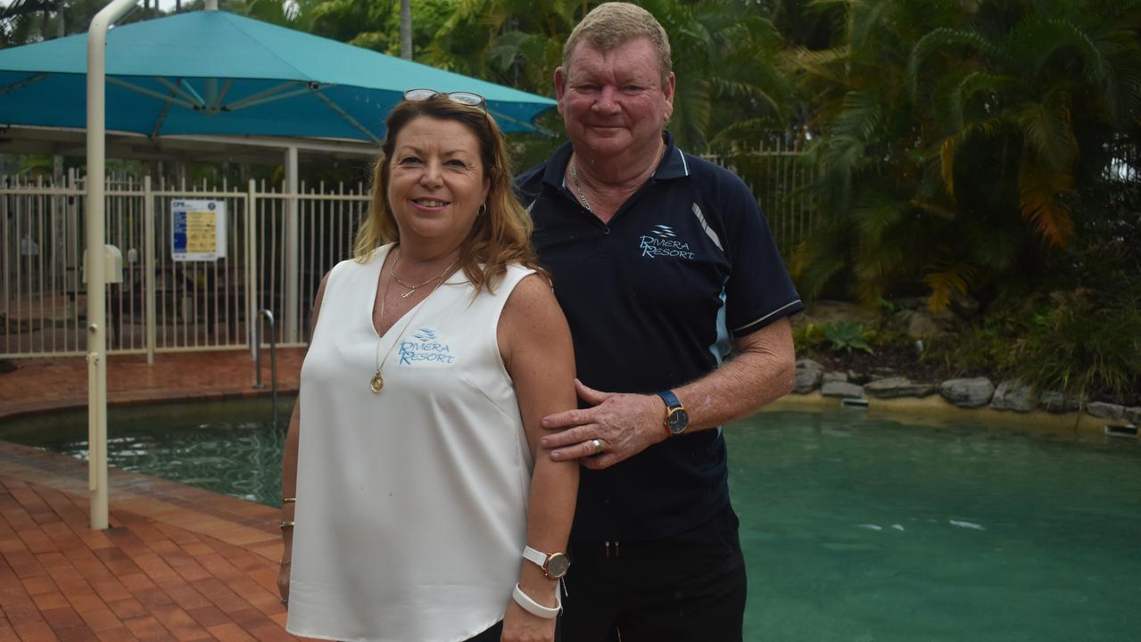 Rivieria Resort managers Ann and Ian Glasson. Photo: Stuart Fast