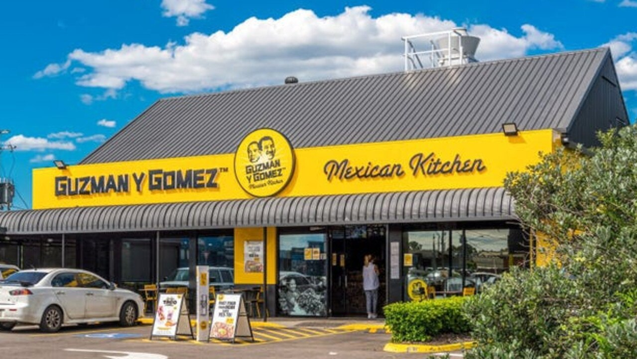 The Guzman y Gomez building at 5 Pine Street, North Ipswich, is set to go under the hammer on April 29.