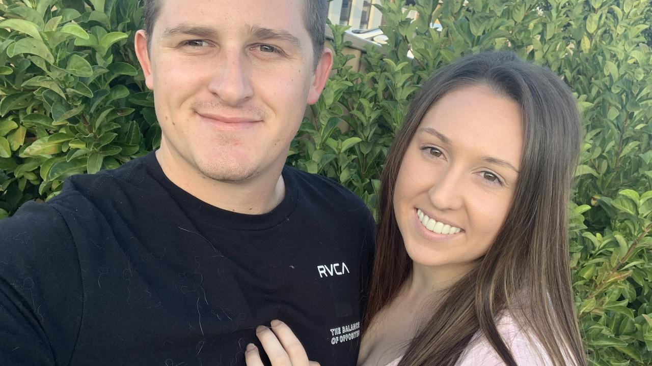 Sarah Lindsay, with partner Joshua Fuller, paid $850 for flowers for her wedding from Bouquets with A Difference and is now organising a class-action lawsuit