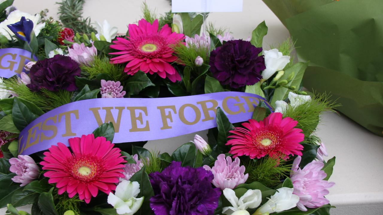 Wreaths are one of the traditions at Anzac Day ceremonies.