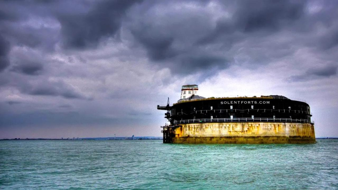 No Mans Fort, which comes equipped with a helipad and a sauna, lies just 35 minutes away from Portsmouth by boat. Picture: ChristiesInternationalRealEstate