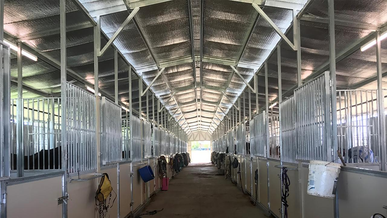 Stables completed at Bassett Park, Roma.
