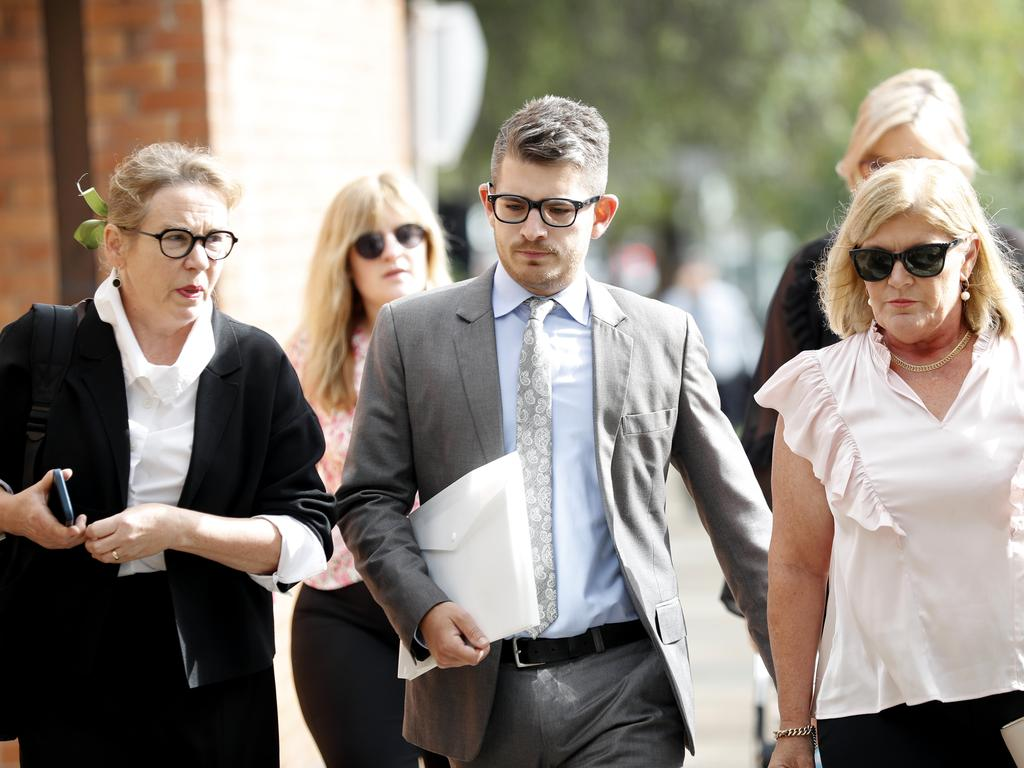 Today show producer, Thomas Joseph Nicol (centre) with lawyer Penny Musgrave (left). Picture: NCA NewsWire / Nikki Short