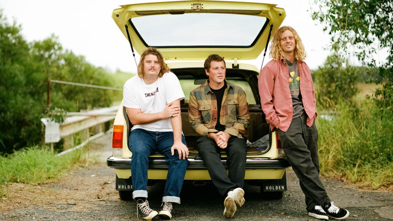 Skegss are an Australian surf music and garage rock trio from Byron Bay formed by Toby Cregan on upright bass, Jonny Laneway on drums and Ben Reed on lead guitar and synth.