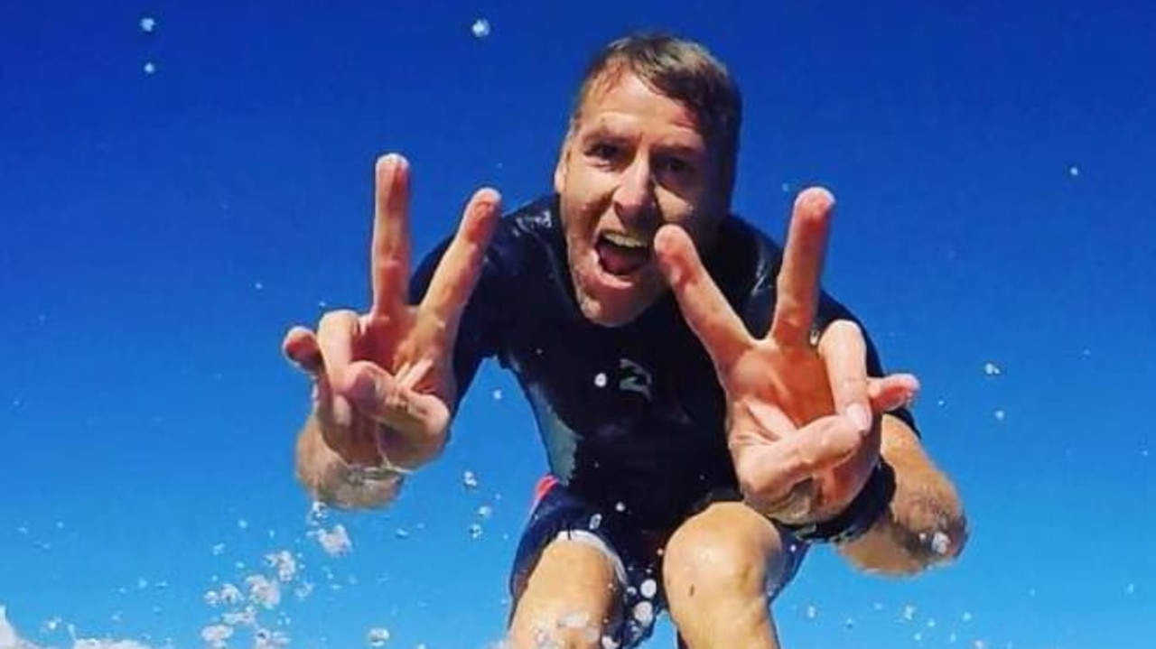 Anthony Karos, 48, of Currumbin Valley, died while surfing at Minnie Water near Grafton on Sunday. Picture: Supplied