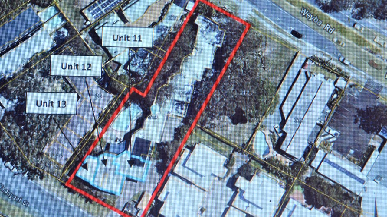 The three units wanting to become a multiple dwelling to diversify accommodation choices in Noosaville.